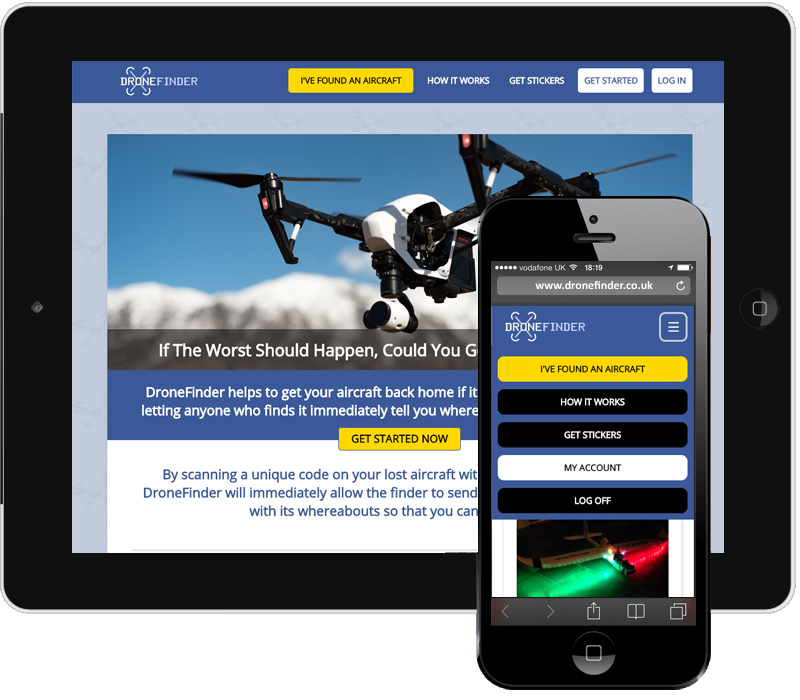 DroneFinder Bespoke Web Application Thumbnail